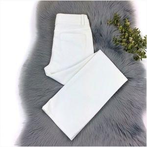 Banana Republic White Straight Leg Pants Size 4S